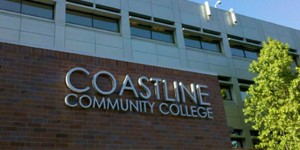 Coastline Community College sign