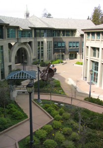 Haas School of Business courtyard