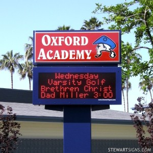 School Sign Oxford Academy